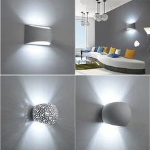 Aplique de pared de yeso moderno, lámpara de yeso hecha a mano, aplique LED montado en la pared de 110V y 220V, para sala de estar, dormitorio, decorar lámparas de pared de interior