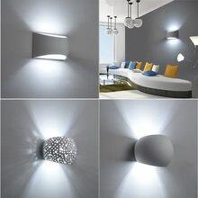 Nowoczesna ściana gipsowa światło ręcznie gipsowa lampa 110V 220V ścienny LED kinkiet salon sypialnia udekoruj kryty kinkiety
