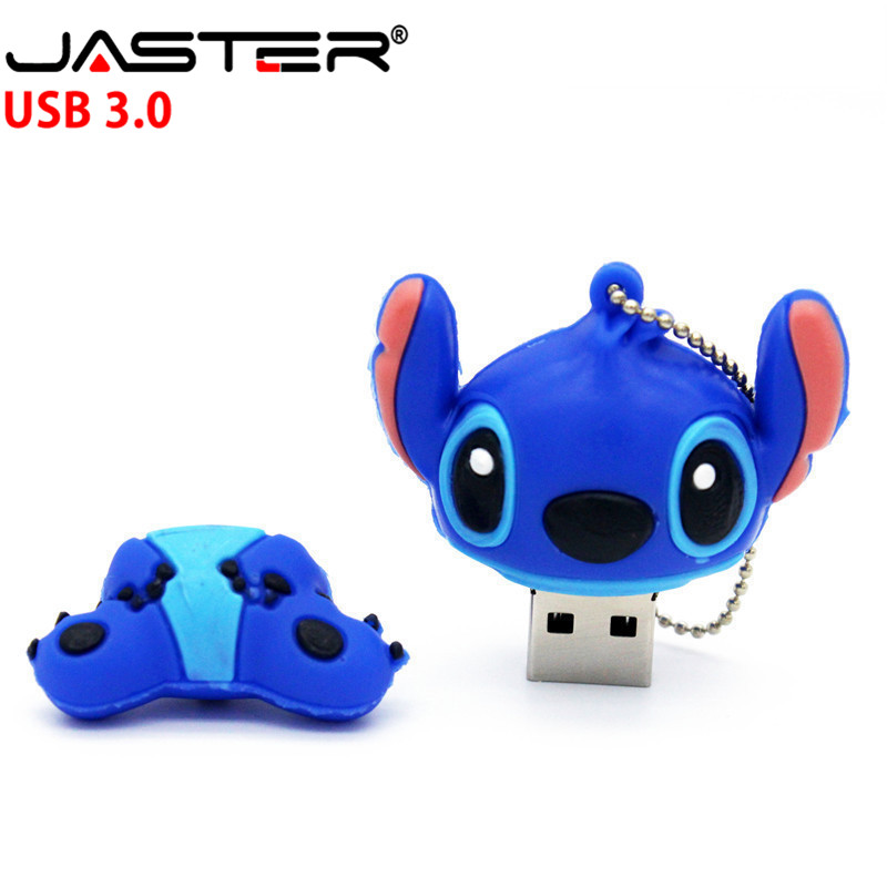 JASTER Cartoon Stitch USB 3.0 External Memory Usb Flash Drive 4GB 8GB 16GB 32GB 64GB Pendrive Memory Stick U Disk Free Shipping