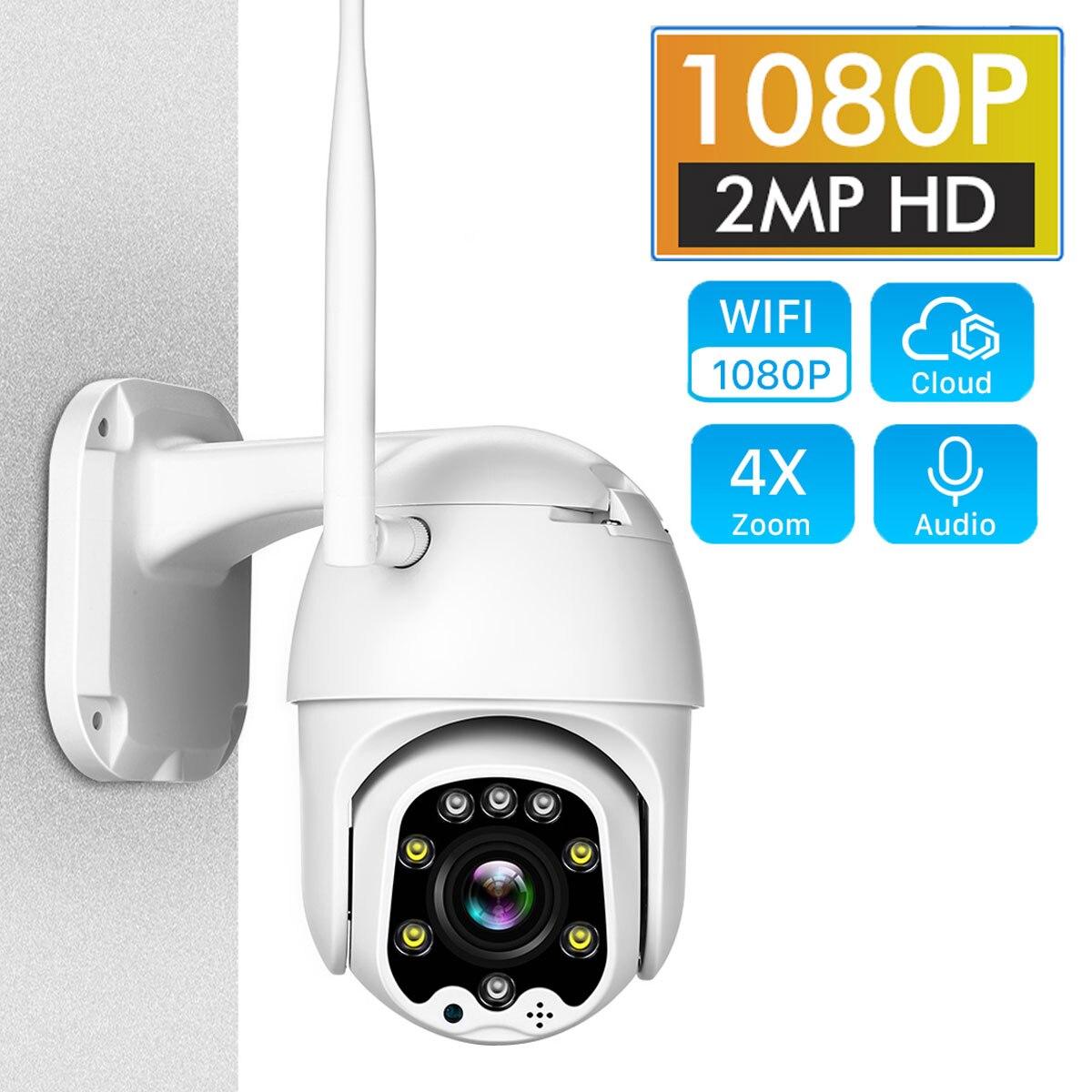 Câmera ip wi fi 2mp 1080 p sem fio ptz speed dome cctv onvif câmera ao ar livre ip66 vigilância de segurança camara vigilante exterior