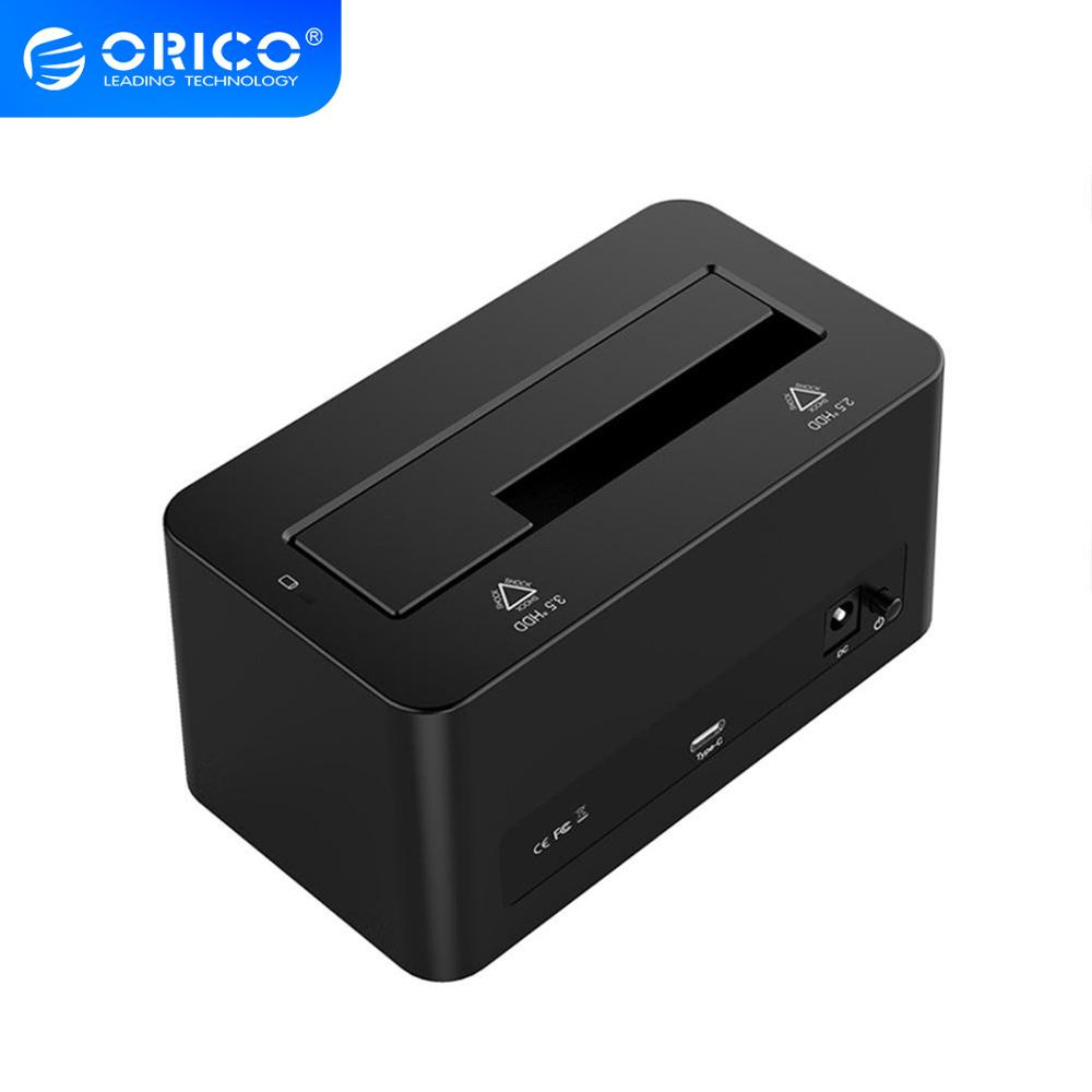 ORICO ABS Material 2.5 / 3.5 inch Type-C Hard Drive Dock 10Gpbs High Speed 12TB Large Capacity HDD Box For Laptop Desktop image