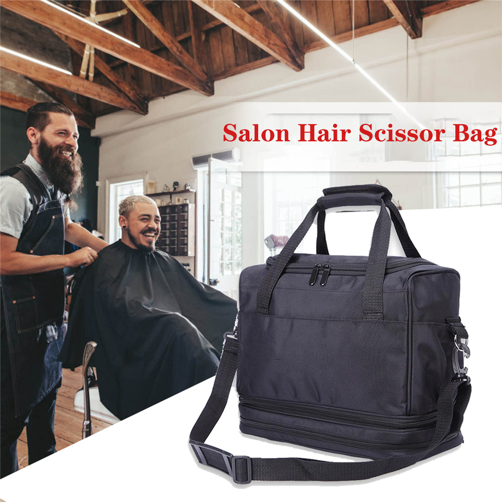 Large Barber Tools Bag Salon Hairdressing Hair Styling Tools Clipper Comb Scissors Case Storage Bag, Hair Stylist Bag for Equipm