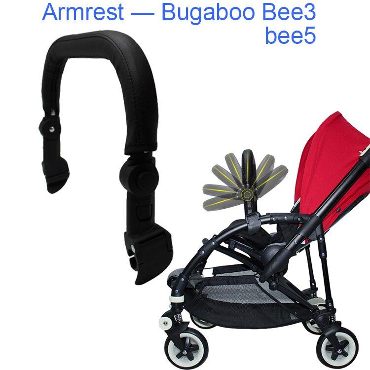 Baby Stroller Accessories Armrest Bumper Hight Class Leather Handrail For Bugaboo Bee 3 Bee 5 Pram Bar Handrest