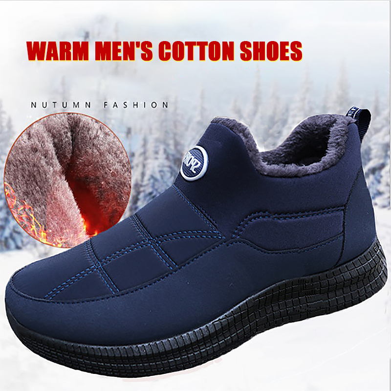 Winter Men Loafers 2019 New Fashion Men Casual Warm Shoes Comfortable Men Fur Flats Driving Moccasins Quality Men Loafers Cotton