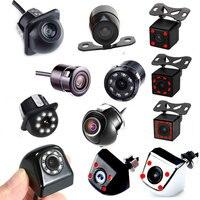 Автомобильная камера заднего вида, 4LED, ночное видение, реверсивная автопарковка, резервная копия для автомобильного монитора, android, CCD, водон...