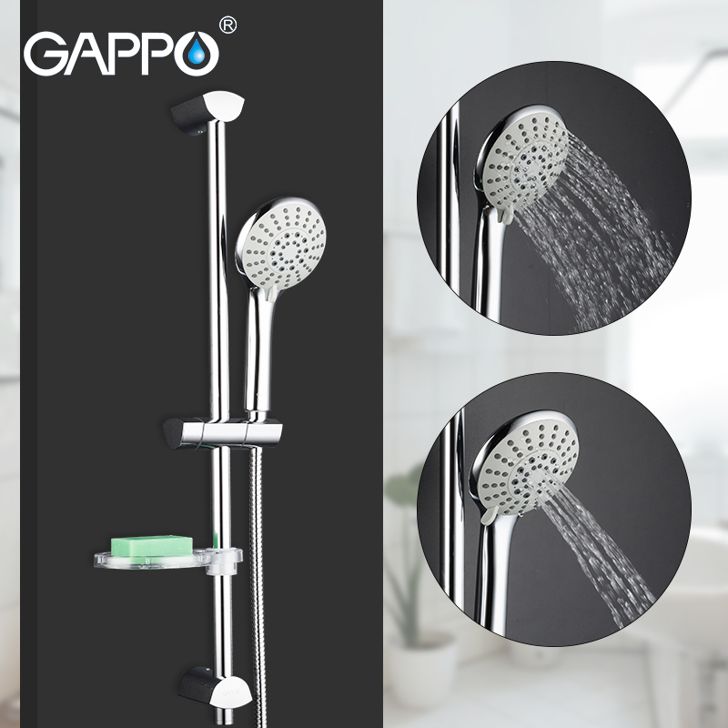 GAPPO bathroom shower set shower Slide Bar Hand Shower bar Wall Mount hand held shower set