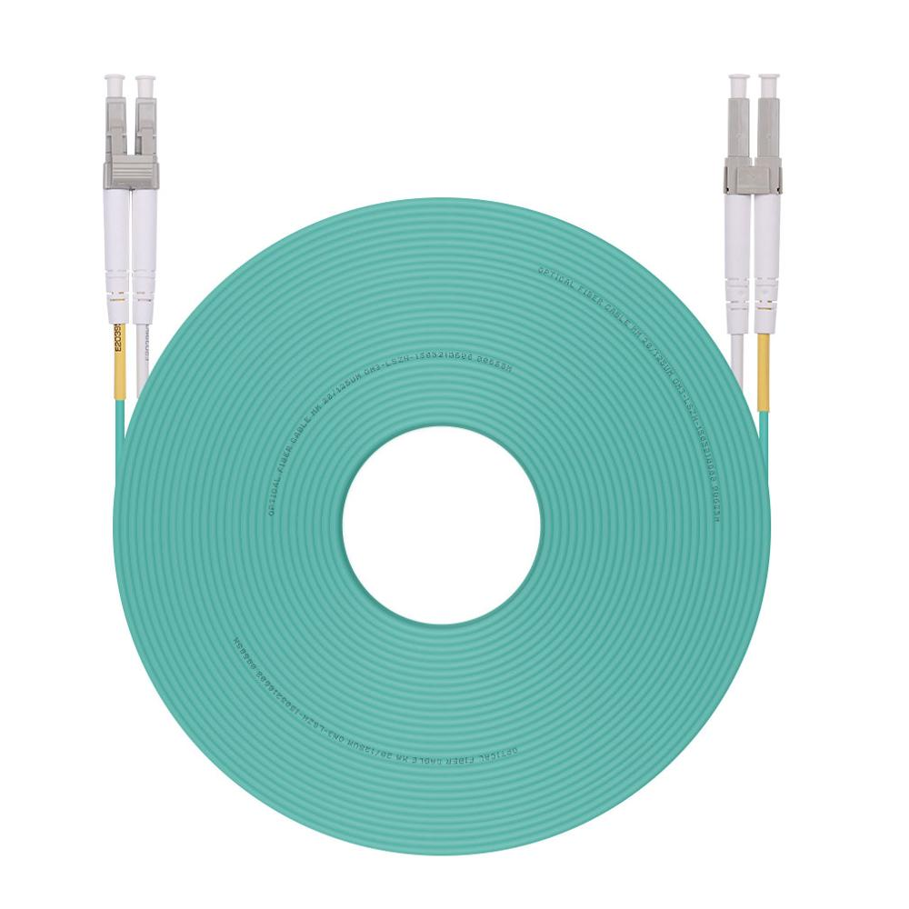10G SFP+ 10Gtek OM3 LC a LC Cable de Fibra /Óptica 25m- 50//125 Multimodo D/úplex Fiber Patch Cable LSZH para SFP Convertidor de Medios Longitud: 1m a 50m