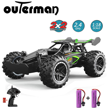 Outerman RC Car Remote Control RC High Speed Racing Car 1:18 Scale 2.4Ghz Electric Toy Car RC Auto Cars for Adults & Kids 1 20 scale 2 ch wireless remote control r c racing car red 3 x aa