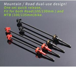 Image 5 - Титановый Ti Skewer QR горный велосипед, быстросъемный рычаг, MTB велосипедный концентратор, дорожный велосипед, быстросъемный MTB детали