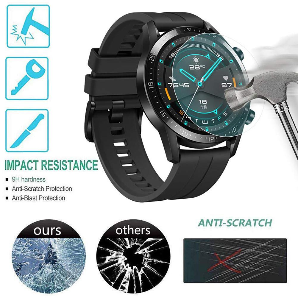 3Pcs For Huawei Watch GT GT2(46mm) Tempered Glass Screen Protector Protective Film Guard Anti Explosion Anti-shatter