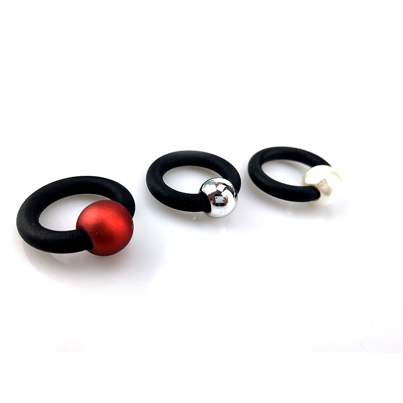 UKEBAY 2020 NEW Pearl Rings Fashion Rubber Jewelry Elasticity Ring Women Body Accessories Simple Handmade Jewellery Wholesale