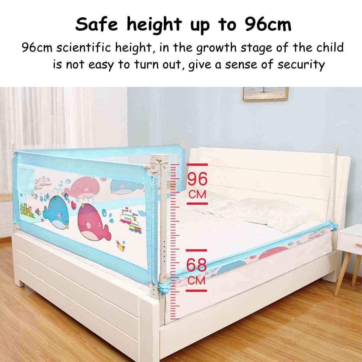 1 PC de elevación Vertical cama barandilla cerca de la cama de bebé romper-resistente a la barrera de protección para los niños cama deflector niños parque