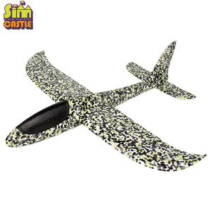 Image 5 - DIY Hand Throw 48cm Flying Planes toys For Children Outdoor Sports Foam Aeroplane Model Cyclotron Gliding Fly Boys Game Figure