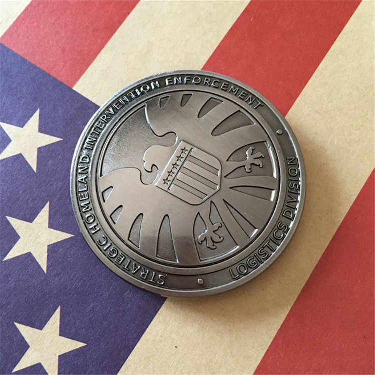 Novos Agentes da shield S.H.I.E.L.D. Grampo do Dinheiro de Metal Badge Pin Crachá Broche de Presente do Dia Das Bruxas Cosplay Prop