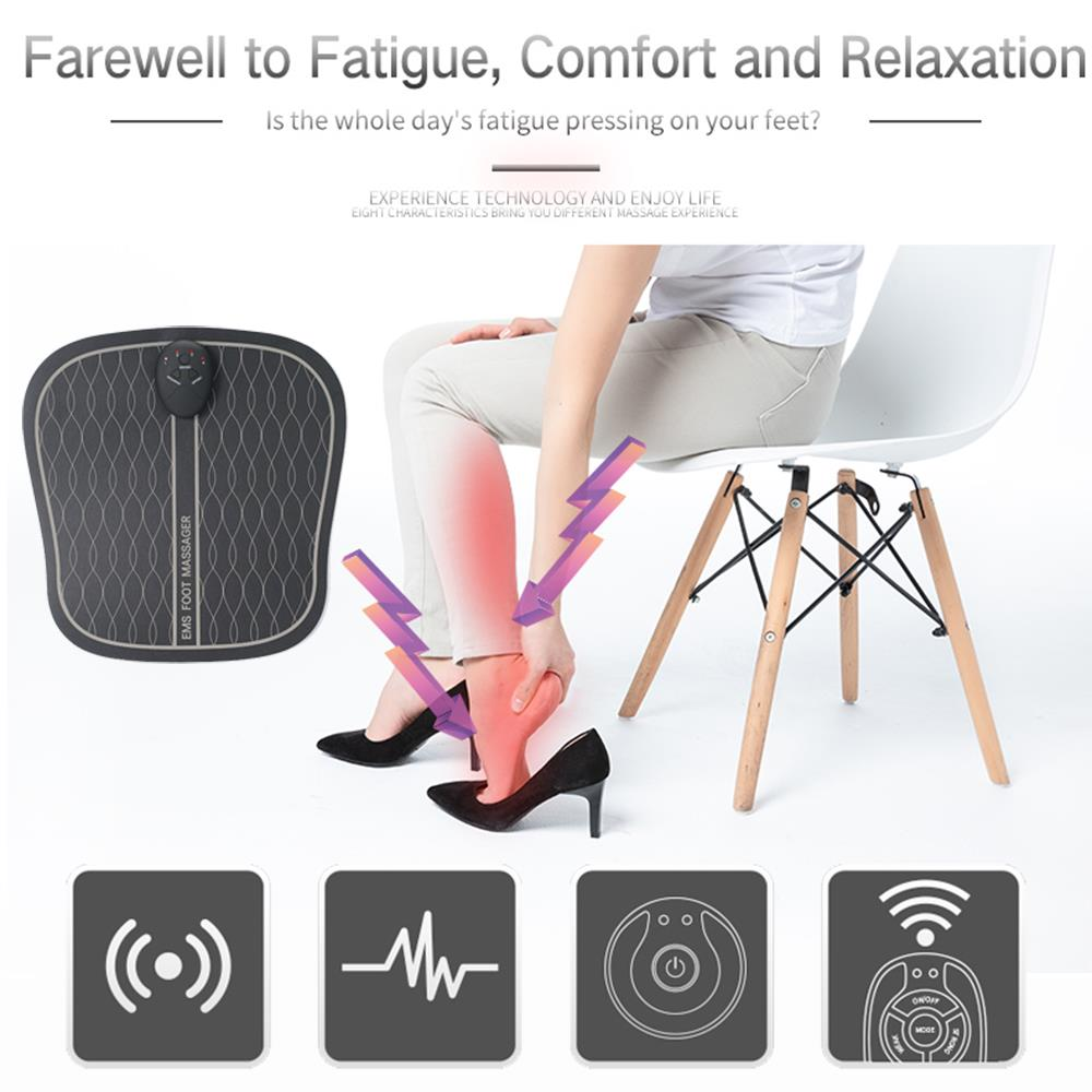 Image 2 - Electric EMS Foot Massager ABS Physiotherapy Revitalizing Pedicure Tens Foot Vibrator Wireless Feet Muscle Stimulator Unisexaid kitfirst aid kitemergency bag -