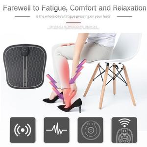 Image 2 - Masajeador eléctrico EMS para pies, masajeador de fisioterapia ABS revitalizante para pedicura Tens, vibrador pies inalámbrico Estimulador muscular Unisex