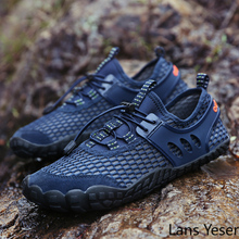 2017 summer outdoor anti slip hiking shoes men women breathable mesh trekking shoes sports sneakers walking aqua shoe lightweigt Men Summer Outdoor Sport Shoes Breathable Hiking Trekking Sneakers Five Fingers Mesh Mens Mountain Climbing Shoe Male Water Shoe