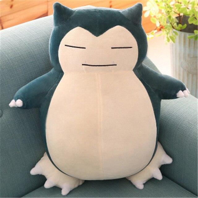 30cm-55CM Snorlax Plush Toys Anime Stuffed Plush Figure Toy Big Snorlax Pillow Toys Soft Plush Toys For Children Girls