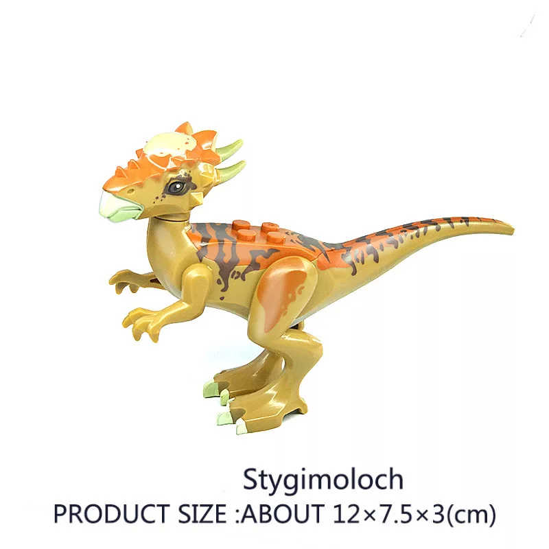 組み立てるビルディングブロック恐竜世界翼竜トリケラトプス velociraptor モデルおもちゃ子供のためのレンガ誕生日ギフト