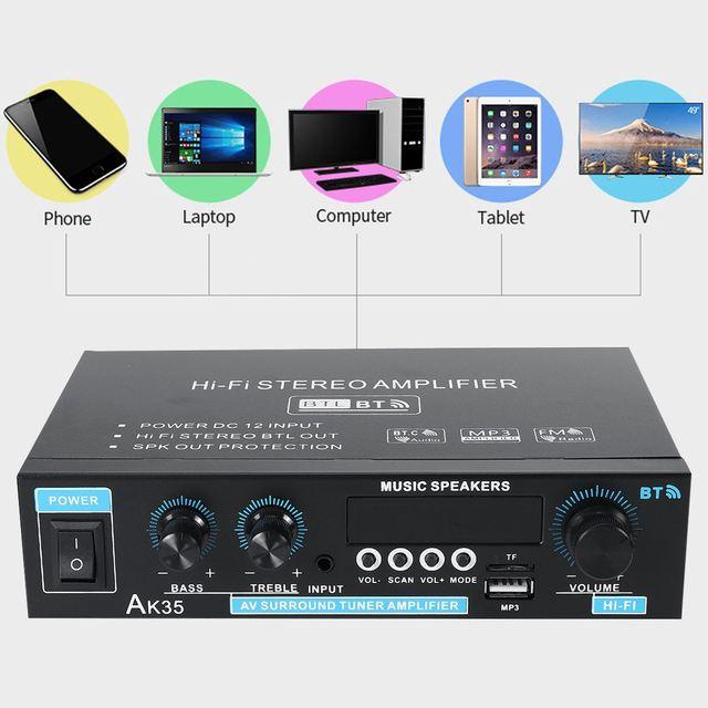 Mini 2.0 Channel Digital Amplifier 110V/220V 400W+400W 2