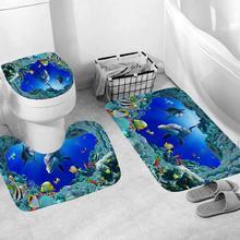 Bathroom Mat 3pcs Non-Slip Fish Scale Bath Mat Bathroom Kitchen Carpet Doormats Decor antislip tapes bath rugs Bathmat Cover Rug