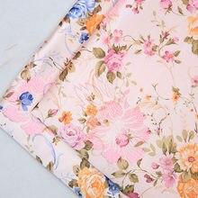 Tecido do jacquard do brocado do cetim da flor para costurar cheongsam e tecidos de seda do vestuário do retalhos do quimono
