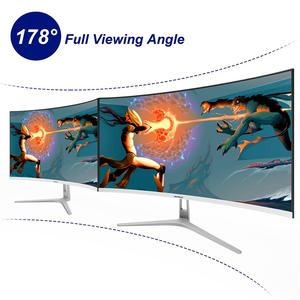 Wearson 1800R 32 Inch Curved Wide Screen LCD Gaming Monitor Flexural Panel 2mm Side Bezel-Less HDMI DVI DP Input Flicker Free