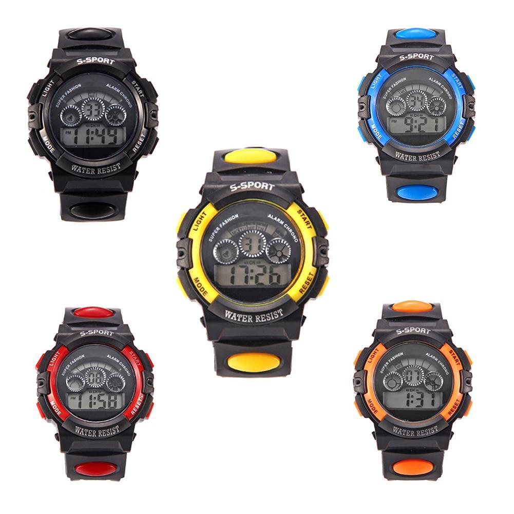 Cool Children Watch Digital Watch Clock Fashion Waterproof LED Digital Display Alarm Date Luminous Sports Watch Kids Reloj Niño