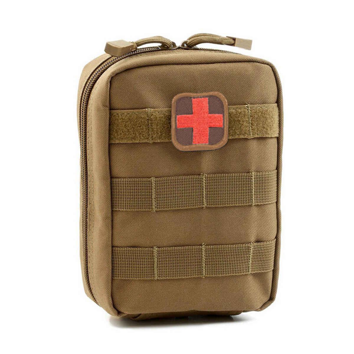 Bolsa de cintura táctica para exteriores, accesorio MOLLE, bolsa portátil para walkie-talkie, bolsa médica para exteriores, bolsillo de rescate médico táctico