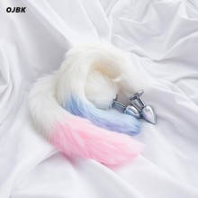 Fox Tail Mental Plush Anal Plug Stainless Steel Prostate Massager Butt  BDSM Sex Toys For Women Couple Adult Game Erotic