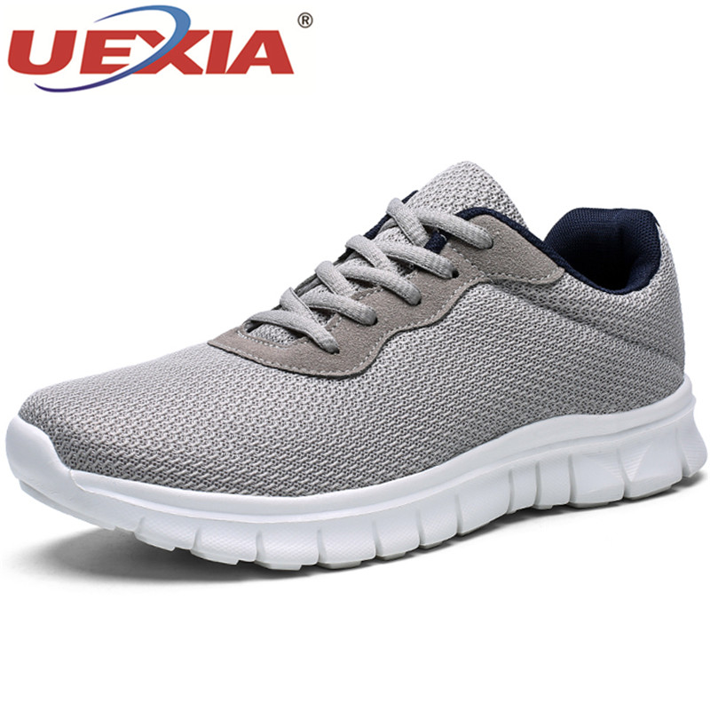 UEXIA Sneaker Casual Shoes Men Outdoor Walking Lace-up Spring Autumn Fashion Breathable Comfortable Male Footwear Zapatos Hombre