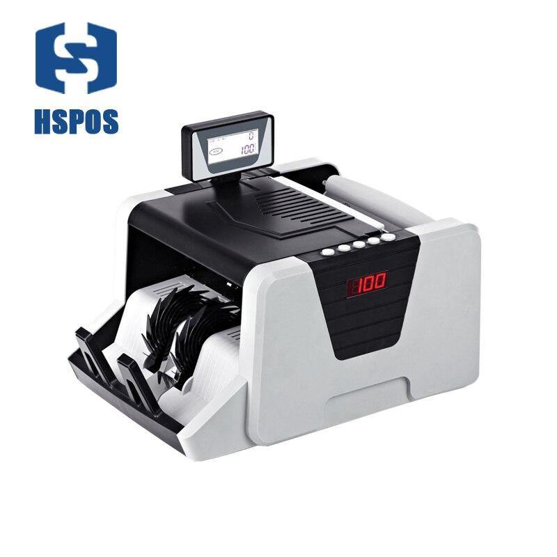 Money counter New Single LCD Display Money Bill Counters Counterfeit Detector UV MG Cash Bank 110V 220V EU US Counting Machine
