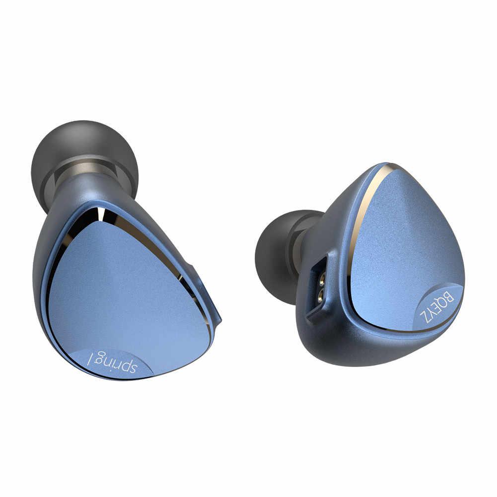 BQEYZ Spring 1 słuchawki piezoelektryczne zbalansowane armatura hybrydowe sterowniki HiFi w uchu Monitor Running słuchawki sportowe