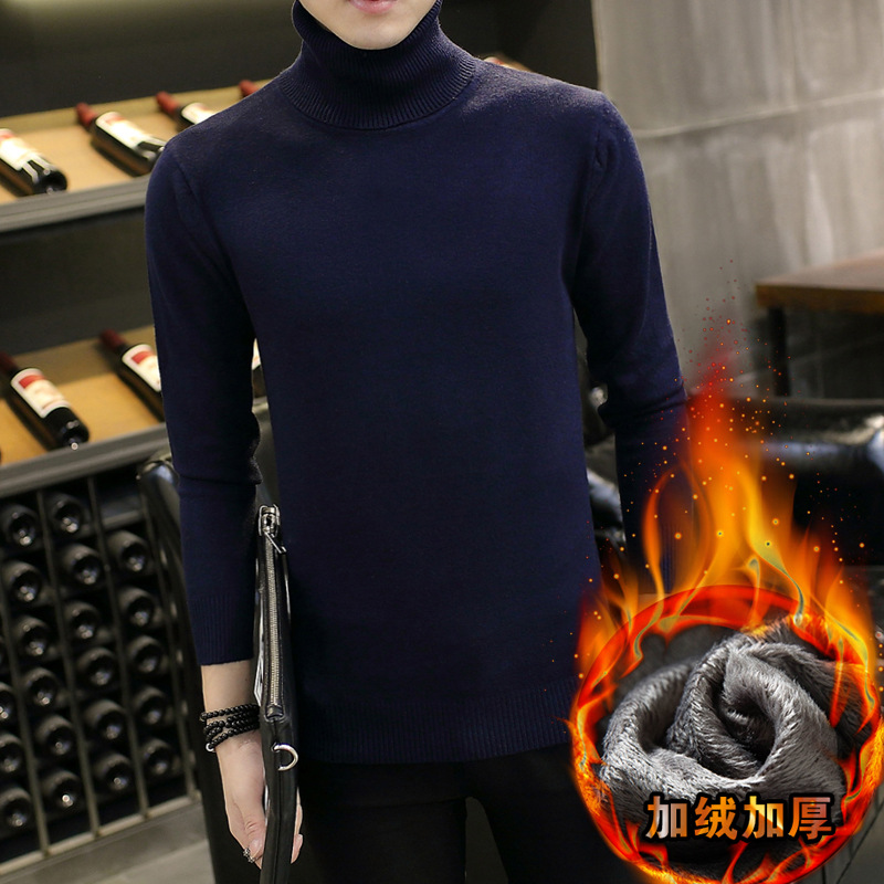 Long Sleeve Men Sweater Winter White Beige Grey Black Navy Blue Wine Red Orange Red Pullovers Fleece Casual Sweaters Mens