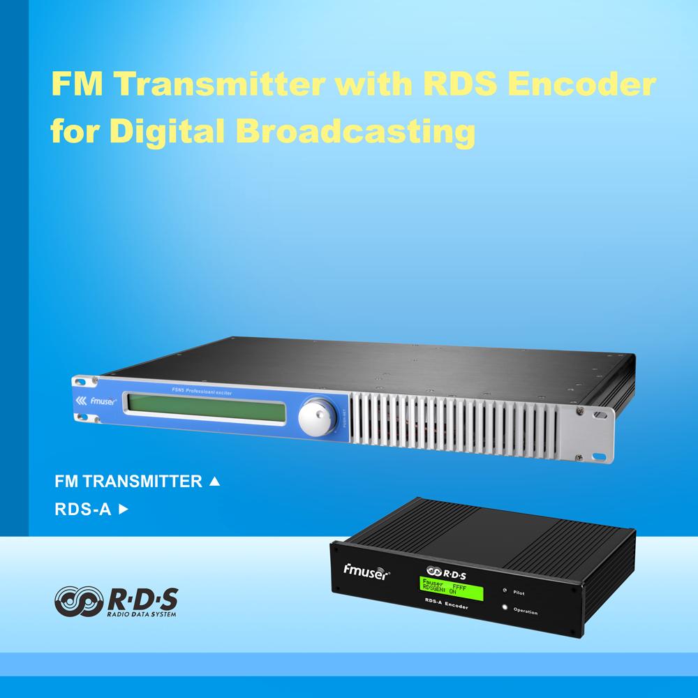 FMT5.0 100w 150W 1U FM RDS Transmisor de radio de transmisión 87-108 Mhz + 1/4 Wave GP antena Cable Kit para transmisión digital
