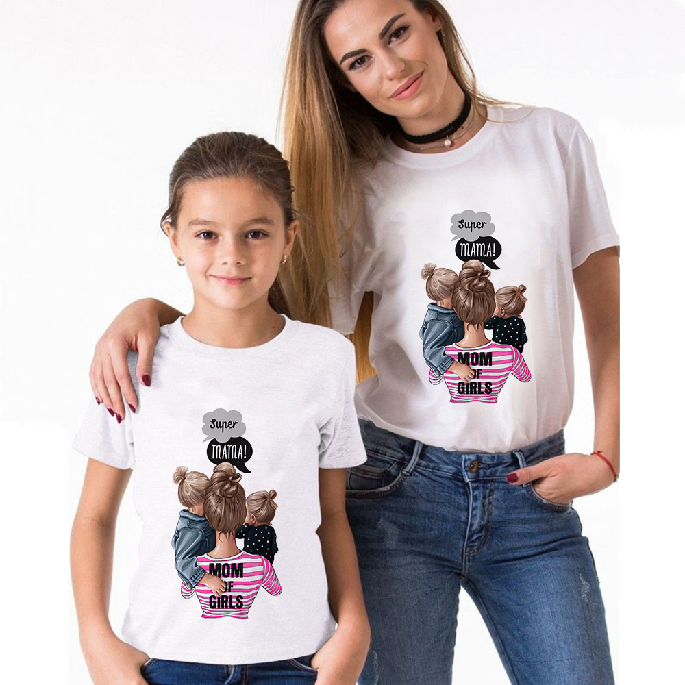 Super Mama Mommy and Me Matching T-Shirt
