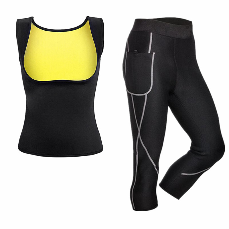New Thermal Underwear Sets Womens 2019 Fitness Sauna Shapers Clothes Long Johns Thermal Tights Winter Neoprene Compression Suits