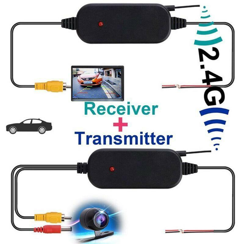 2.4G Wireless Rear View Camera Car Camera Signal Transmitter & Receiver Cable  RCA Video Transmitter & Receiver Car Accessories
