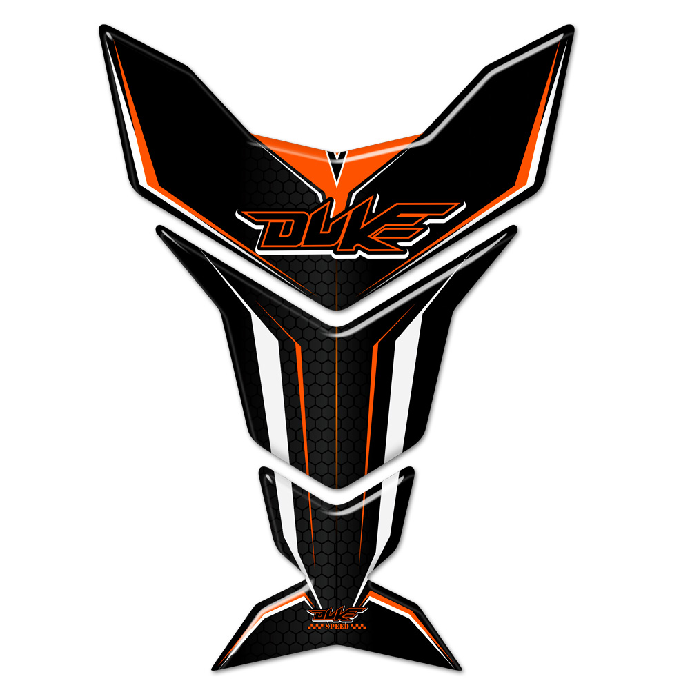 For KTM 125 200 250 390 690 790 890 990 1290 <font><b>DUKE</b></font> Tank Pad Naked Protector Fairing <font><b>Stickers</b></font> Decal Emblem Badge Logo Motorcycle image