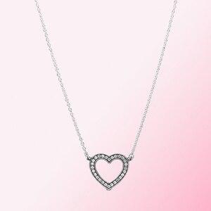 Image 1 - 2019 100% 925 argent Sterling classique coeur ouvert collier femmes charme mode personnalité bijoux livraison gratuite en gros