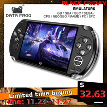 Data Frog 5 inch Portable Handheld Video Game Console Support for GB/CPS/FC/MAME Build In 3200+ Games Retro Arcade Game Console