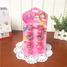 6pc/set Ariel/Snow White/Belle/Cinderella/Jasmine/Aurora Princess Seal Stamper Toys DIY Kid Birthday Party Supplies Decorations