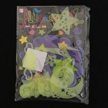 12 Pcs/set Kawaii Luminous Star Stickers Glow In The Dark Mo