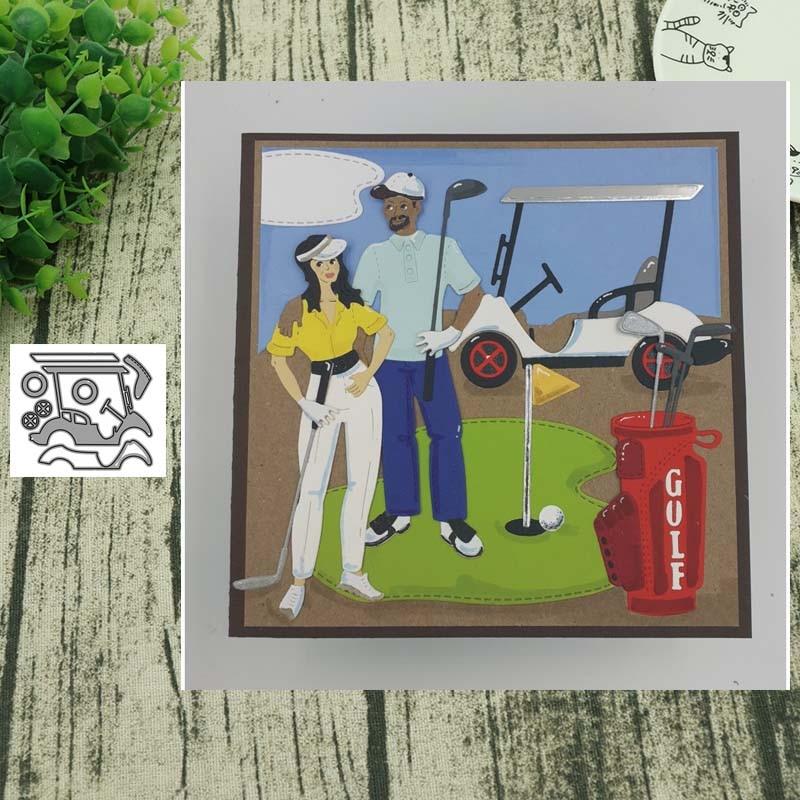Metal Cutting Dies Golf Cart Cut Scrapbooking Paper Craft Handmade Card Punch Art Cutter Decorative Stencil