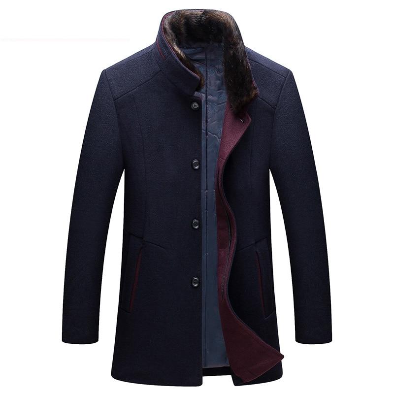 2019 Winter New Thick High Quality Woolen Coat Men