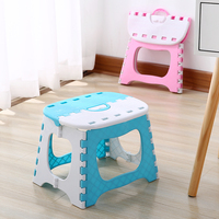 Portable Folding Child Stools Thicken Plastic Adult Stool Outdoor Sitting Sports Camping Home Convenient Folding Step Stool|Children Stools| |  -