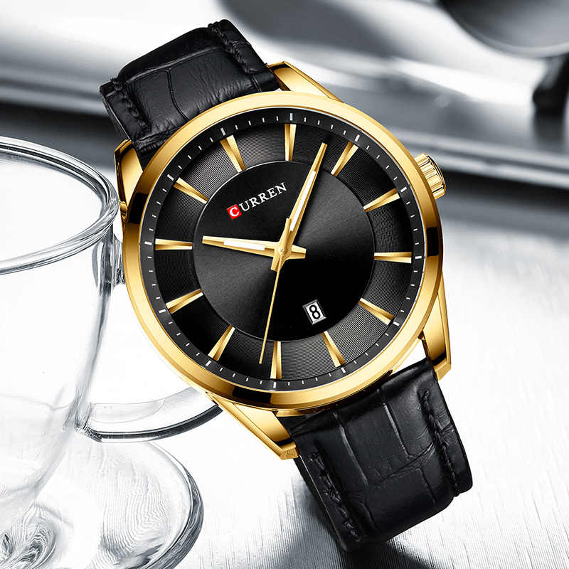 Curren hommes montres de luxe marque 2020 mode hommes montres d'affaires bleu homme montres en cuir montre hommes Relogio Masculino