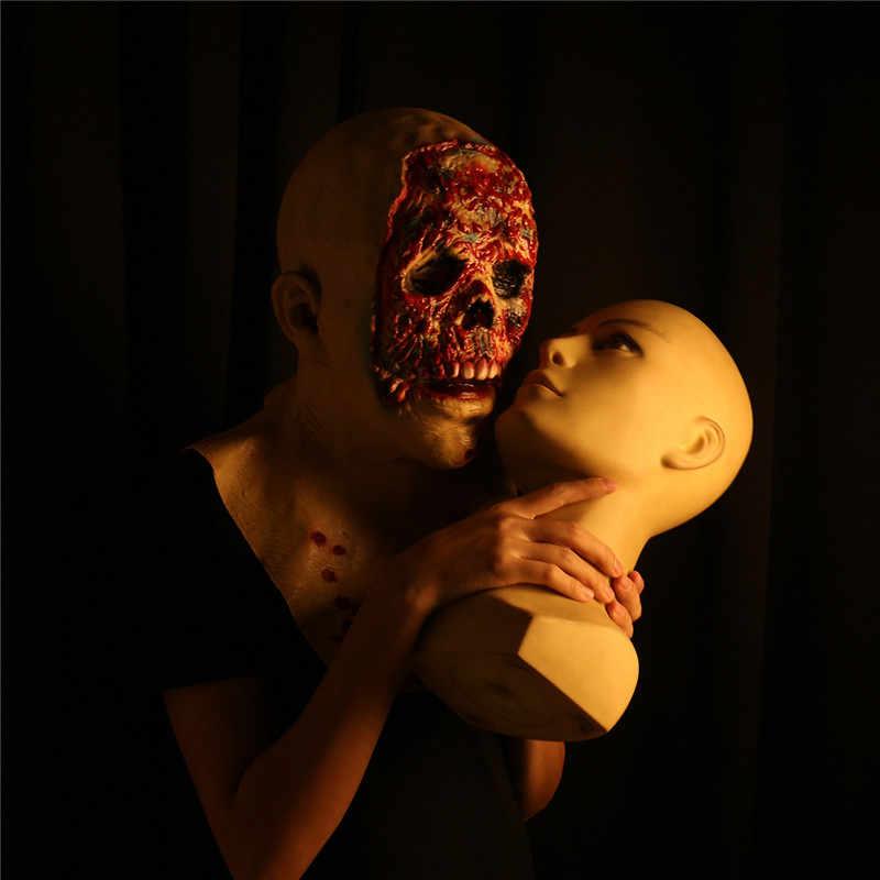 Mascherina di Orrore di Halloween Zombie Maschere Del Partito di Cosplay Sanguinante Disgustoso Marciume Viso Spaventoso Maschera di Travestimento Mascara Terrore Maschera In Lattice