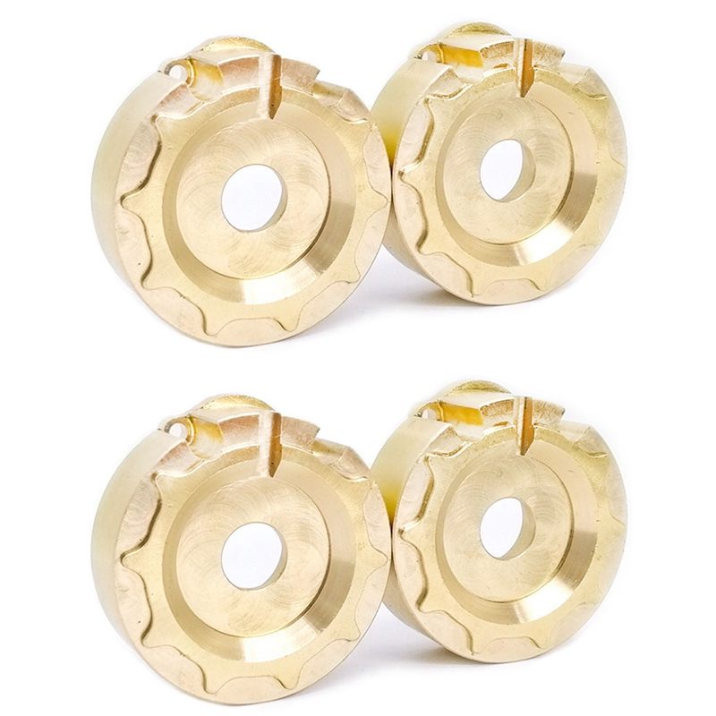 4Pcs for TRX-4 Brass Counterweight Balance Weight Tire Portal Drive Housing for 1/10 RC Crawler for Traxxas TRX4 Axle Upgrade Pa