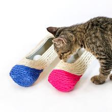 Drapak dla kota rolka tunel piłka sizalowa interaktywne zabawki dla kota uwięzione z 3 kulkami szkolenia drapanie zabawki dla kota katten speelgoed tanie tanio Piłki cats Z tworzywa sztucznego pet toy